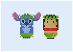Lilo & Stitch parody Cross stitch PDF patterb por cloudsfactory