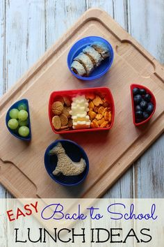 Say goodbye to boring lunches with these easy back to school ideas that make lunch time fun! #LunchboxCreations #ad