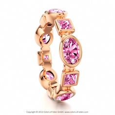 Pink Sapphire Ring Gloriola, Colors of Eden