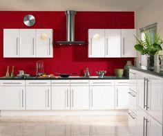 Finde Diesen Pin Und Vieles Mehr Auf Küche Möbel   Küchen   Kücheninsel Von  Freshideen. Möbelfronten Modernes Design Rote Wandfarbe Küchengestaltung