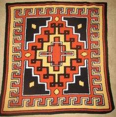 Aztec  Hand Made Crocheted Afghan  BRAND NEW by cuddleupcreations, $85.00