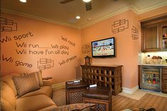 Wii Loft / Game Room Decor for Kids Play Room #glhomes #newfloridahomes
