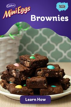 These slutty brownies are the most over-the-top dessert you'll ever try. They have a soft and chewy chocolate chip cookie base, a layer of Oreo cookies, and fudgy brownie on top! This recipe is from scratch and definitely the best brownie recipe around. Desserts Ostern, Köstliche Desserts, Delicious Desserts, Yummy Food, Health Desserts, Mini Brownies, Cake Brownies, Easter Recipes, Mini Eggs Recipes
