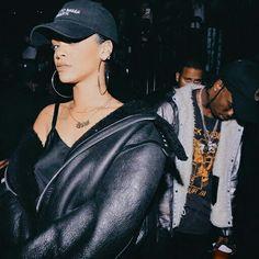 Follow @ms.stay on Instagram for Amazing fashion feed Rihanna Travis Scott All black