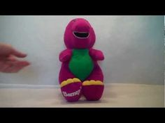 1996 PBS Barney The Purple Dinosaur Plush By Playskool - YouTube