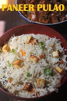 Paneer pulao which is super easy to make and taste so delicious. It is simple and one of the quickest pulao you could ever make. Vegetarian Crockpot Recipes, Veg Recipes, Seafood Recipes, Indian Food Recipes, Cooking Recipes, Crockpot Dishes, Dishes Recipes, Asian Recipes, Paneer Pulao