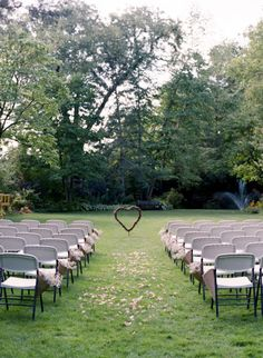 This is a neat way to dress up an outdoor wedding, without an arch.