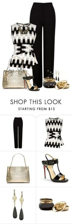 7/7/15 by longstem on Polyvore featuring BCBGMAXAZRIA, Martin Grant, Christian Louboutin, Tory Burch and Jolie B. Ray Designs