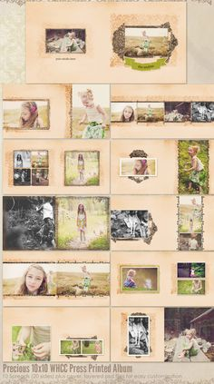 Premade Album, 10x10 inch WHCC Press Printed Album  10 spreads (20 pages) plus cover    Gorgeous photos courtesy of My Four Hens Photography