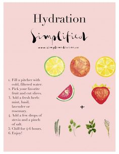 How to stay hydrated this summer. #healthymeals #cleaneats