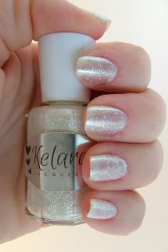 Kelara Laquers White Christmas  swatched one hand