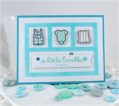 A Little Bundle ***Lawn Fawn Little Bundle - Love the stamping and die cutting on this handmade card.