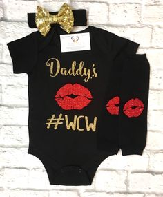 A personal favorite from my Etsy shop https://www.etsy.com/listing/533437564/baby-girl-clothes-daddys-wcw-bodysuit