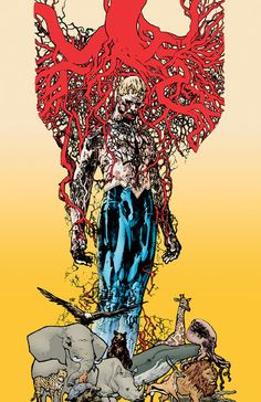 Animal Man # 1 - I've never read an Animal Man comic book... but the story in this book is soooooooo freaking good... and I really can't wait for more of it #DCU I super love Jeff Lemuire.