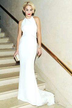 Love this - glamourous and chic - halter necks are in in in Rita Ora in Pucci