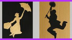 Create your own Mary Poppins-inspired wall art with easy-to-follow instructions from Anneorshine. Print your own free ready-to-cut stencils: http://spoonful....