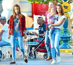 Lily Aldridge and Caleb Followill went on a double date with Alessandra Ambrosio and Jamie Mazur at Disneyland. Lily Aldridge and Caleb Followill and their daughter Dixie at California's Disneyland. January 2015