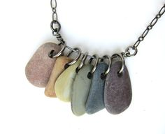 The orange stone in this Rainbow Rocks necklace is AWESOME!  Perfect orange and an absolute rectangle :D Sweetness!