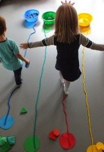 Ages Demonstrate development of flexible thinking during play Motor Skills Demonstrate development of fine and gross motor coordination Classroom Activities, Toddler Activities, Preschool Activities, Visual Motor Activities, Circus Activities, Circus Crafts Preschool, Physical Activities For Preschoolers, Vestibular Activities, Movement Preschool