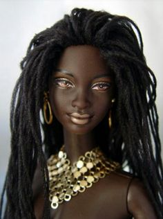 A Barbie with Locs! Wish I had this growing up.