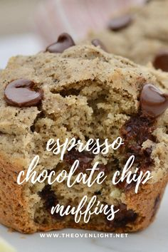 Chocolate Chip Muffins, Chocolate Coffee, Chocolate Chips, Baking Recipes, Dessert Recipes, Cake Recipes, Desserts, Non Dairy Sour Cream, Coffee Muffins