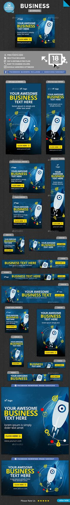 Business Web Banners Template PSD. Download here: http://graphicriver.net/item/business-banners/15823761?ref=ksioks