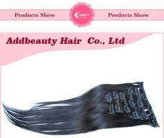 Aliexpress.com : Buy Clip In Real Human Remy Hair, Brazilian Virgin Straight Hair Extensions, 100% Unprocessed Human Clip in Hairpieces 70g 7pcs/set from Reliable clip links suppliers on Guangzhou queen hair products co., LTD | Alibaba Group