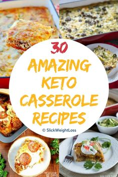 30 Easy and delicious Keto Casserole Recipes and Low Carb Casserole Recipes best for breakfast, lunch and dinners. We have covered Beef, Chicken, Shrimp, Vegetarian casserole Recipes and all the recipes are LCHF. Cauliflower, Mexican, Fat head Pizza casseroles, must try delicious low carb and Keto Casseroles. Paleo | Gluten Free | Dairy Free | Keto Approved #lowcarb #ketogenic #ketorecipes #lchf #casseroles #healthyrecipes