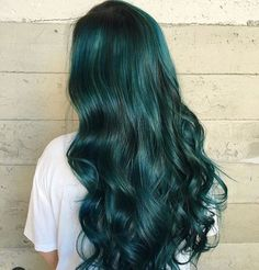 Dark green mermaid hair style, love it so much~