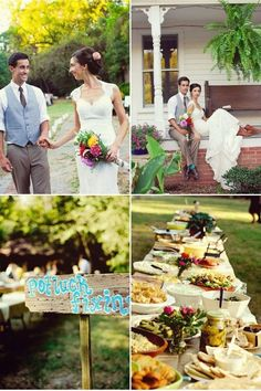 plan potluck wedding