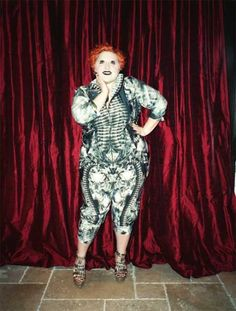 Gossip singer, Beth Ditto in Alexander McQueen garments designed just for her.  For more Alexander McQueen fashion visit the Elegant Plus Facebook photo album:  https://www.facebook.com/media/set/?set=a.10150763834035160.726811.523785159=3=3e4130c1c2