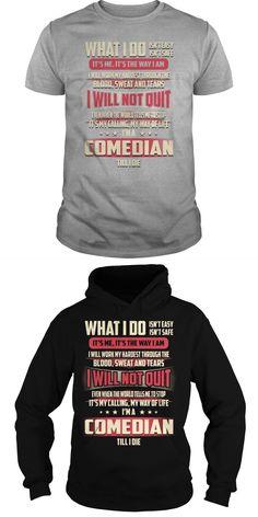 Comedian Job Title Tshirts.  Guys Tee Hoodie Ladies Tee Redd Foxx Comedian T-shirts Comedian Red Fox T Shirt Comedian Red Fox T Shirt Comedian T Shirts