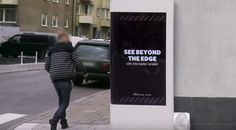 interactive digital billboard - This incredible interactive digital billboard was used on a street corner in Stockholm to advertise Samsung's new Galaxy Edge. The phone h. Viral Marketing, Guerilla Marketing, Marketing Ideas, Funny Ads, Street Culture, Around The Corner, Billboard, Communication, Advertising