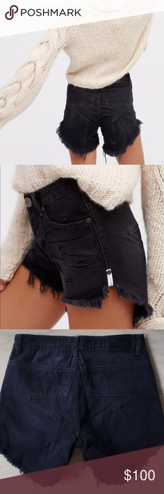 NEW One Teaspoon Juliette High Rise Cut Off brand new been worn One Teaspoon Shorts Jean Shorts