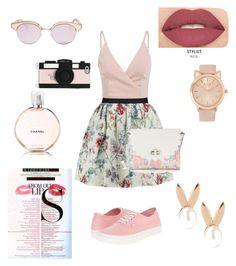 """Flowers"" by missxamericax ❤ liked on Polyvore featuring Raoul, Candie's, Le Specs, Vans, Kate Spade, MAC Cosmetics, Aamaya by priyanka, Smashbox and Chanel"