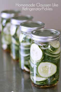 Homemade Claussen like Refrigerator Pickles. Crispy pickles that my family will love