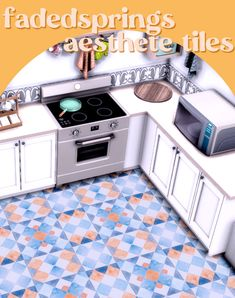 ✿Roli Cannoli CC Findz Corner✿ — aesthete tiles aes·thete - one having or... Sims Building, Tile Wallpaper, Sims 4 Custom Content, Cottage Living, Rustic Barn, Kitchen Tiles, Tile Patterns, Ts4 Cc, Cannoli
