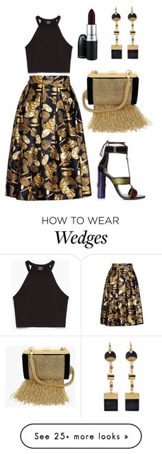 """""""you're golden under the moon"""" by iphigeniabythesea on Polyvore featuring Zara, Tom Ford, Balmain, Isabel Marant, MAC Cosmetics and fall2015"""