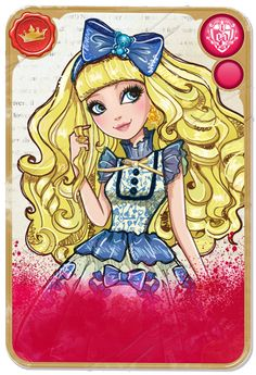 Mirror Blogs - Student Cards & Character Bios | Ever After High Royal Blondie Lockes, daughter of Goldilocks