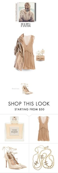 """""""Perhaps this is the moment for which you have been created"""" by blonde-bedu ❤ liked on Polyvore featuring Chanel, Balmain, Chloé, Gianvito Rossi, Lilli Ann and vintage"""