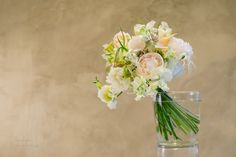 Beautiful Pastel colored wedding bouquet Flowers with peonies www.andreakuehnis.com