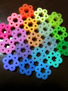 Rainbow flower coaster perler beads by maco is creative inspiration for us. Get … Rainbow flower coaster perler beads by maco is creative inspiration for us. Get more photo about diy home decor related with by looking at photos gallery… Continue Reading → Perler Bead Designs, Hama Beads Design, Diy Perler Beads, Perler Bead Art, Hama Beads Coasters, Hama Coaster, Melty Bead Patterns, Pearler Bead Patterns, Perler Patterns