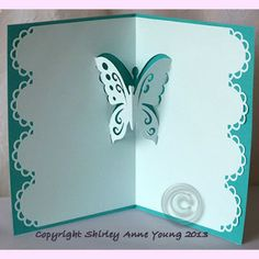 Free cutting file for a butterfly popup card                                                                                                                                                                                 More