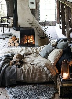 winter cosy bedroom