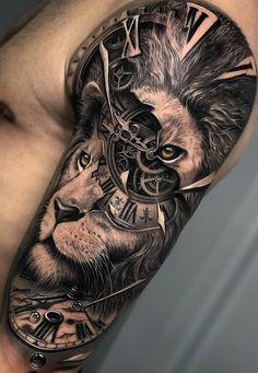 tattoos for guys * tattoos for women . tattoos for women small . tattoos for moms with kids . tattoos for guys . tattoos with meaning . tattoos for women meaningful . tattoos on black women . tattoos for daughters Animal Sleeve Tattoo, Lion Tattoo Sleeves, Leg Sleeve Tattoo, Leg Tattoo Men, Tattoo Sleeve Designs, Tattoo Designs Men, Lion Tattoo Design, Mens Lion Tattoo, Man Sleeve Tattoo Ideas