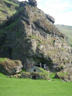 Turf-Covered Farm House