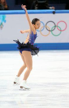 〈ソチ五輪・フリー(2/20)〉 女子フリーの演技をする浅田真央=川村直子撮影