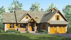 Rustic Craftsman Lodge - 17742LV | 1st Floor Master Suite, Bonus Room, Butler Walk-in Pantry, CAD Available, Craftsman, Mountain, Northwest, PDF, Split Bedrooms, Vacation | Architectural Designs