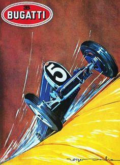 Vintage Italian Posters ~ #illustrator #Italian #posters ~ Bugatti