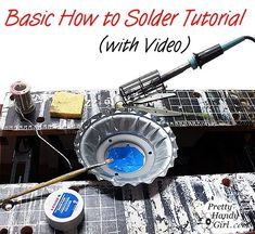 How to Solder Metals Together - Tool Tutorial Friday - Pretty Handy Girl Soldering Jewelry, Soldering Iron, Jewelry Tools, Metal Jewelry, Jewelry Making, Jewelry Ideas, Beading Jewelry, Glass Jewelry, Jewelry Trends